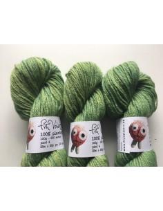 Plantefarvet uld - rejnfan og indigo