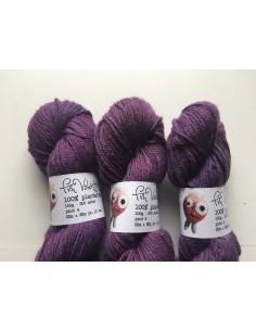 Plantefarvet uld - Cochenille og indigo