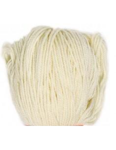 Plantefarvet uld - Hvidt (ufarvet)