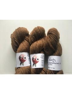Plantefarvet uld - Valnød