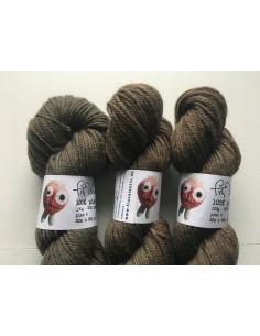 Plantefarvet uld pind 4 - Valnød og indigo