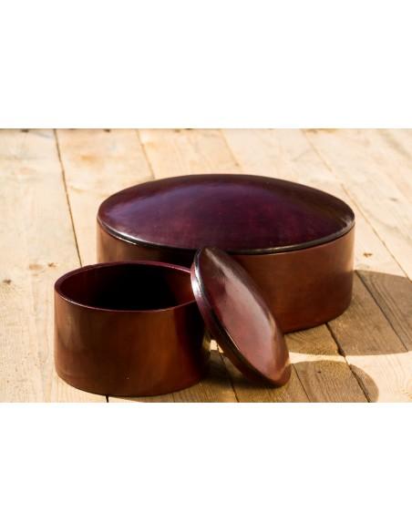 Læderæske - brun