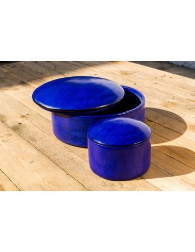 Læderæske - blå