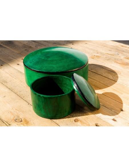 Læderæske - mørk grøn
