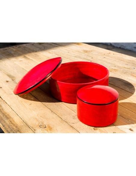 Læderæske - rød