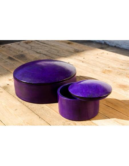 Læderæske - violet