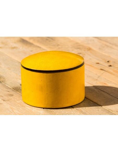 Læderæske - gul