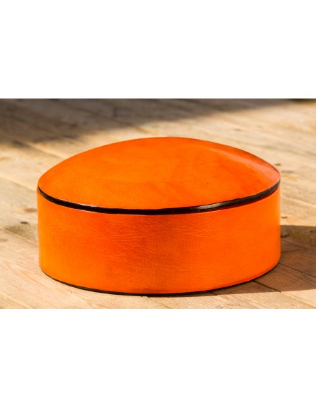 Læderæske - orange